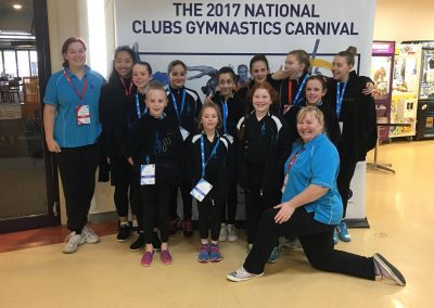Bendigo NCC Gymnasts and coaches